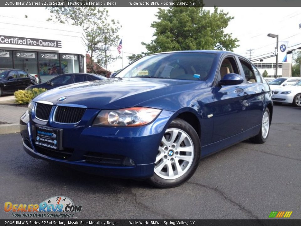 2006 bmw 3 series 325xi sedan mystic blue metallic beige photo 1. Black Bedroom Furniture Sets. Home Design Ideas