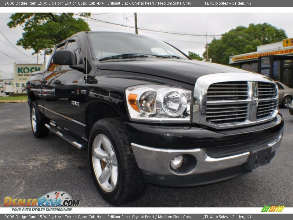 2008 dodge ram 1500 big horn edition quad cab 4x4 brilliant black crystal pearl medium slate. Black Bedroom Furniture Sets. Home Design Ideas