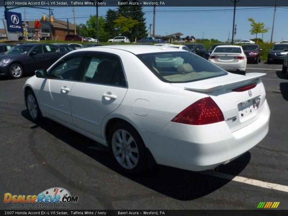 2007 Honda Accord Ex L V6 Sedan Taffeta White Ivory