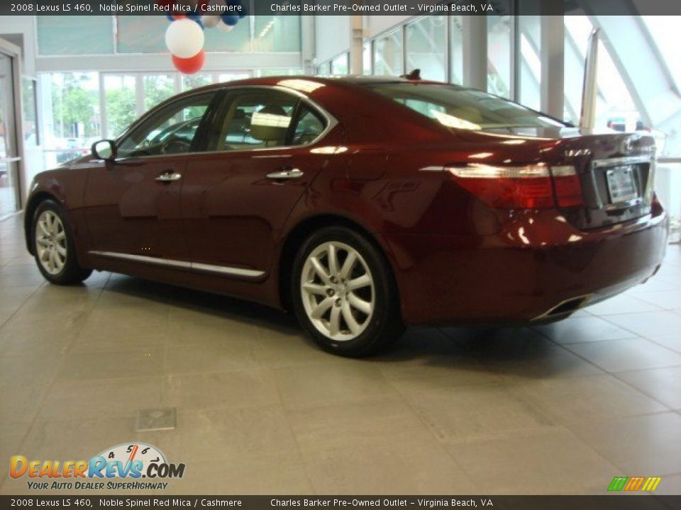 2008 Lexus Ls 460 Noble Spinel Red Mica Cashmere Photo