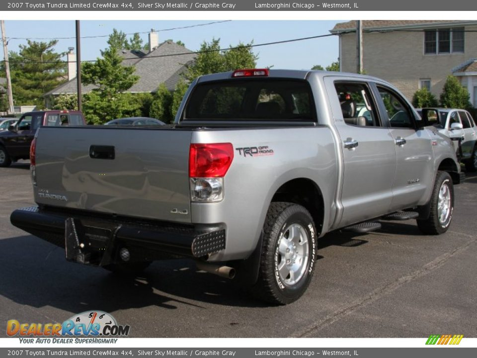 2007 toyota tundra limited crewmax 4x4 silver sky metallic graphite gray photo 4. Black Bedroom Furniture Sets. Home Design Ideas