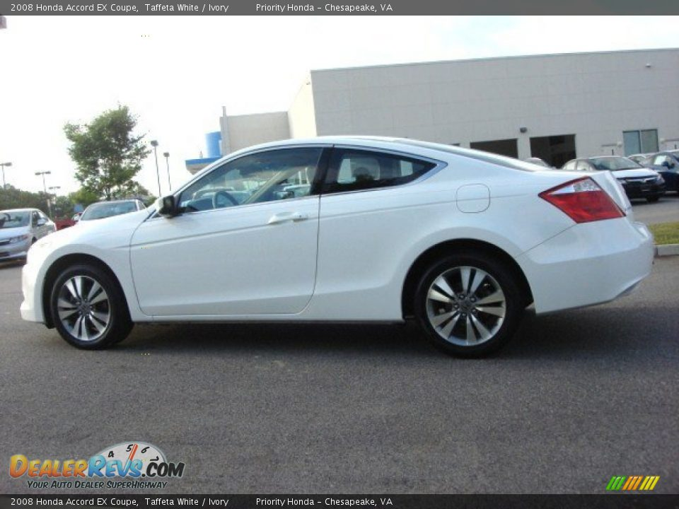 2008 Honda Accord EX Coupe Taffeta White / Ivory Photo #3 | DealerRevs ...