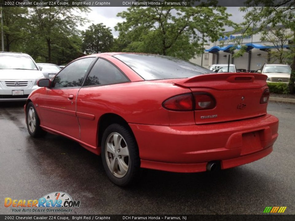 Bright Red 2002 Chevrolet Cavalier Z24 Coupe Photo #12 ...