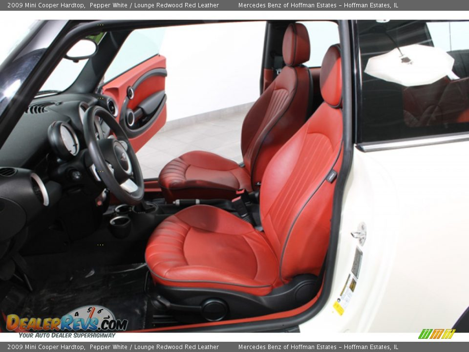 Lounge Redwood Red Leather Interior 2009 Mini Cooper