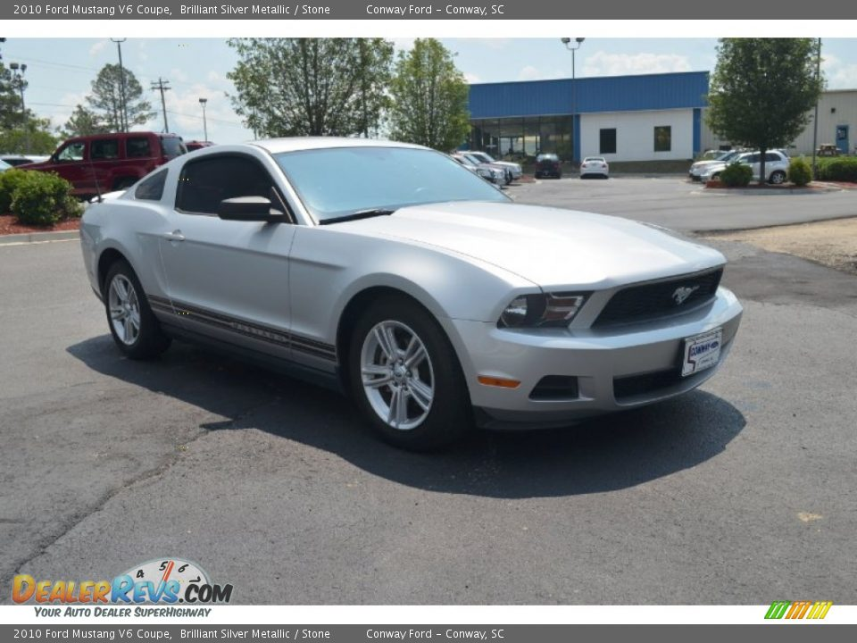 2010 ford mustang v6 coupe brilliant silver metallic stone photo 3. Black Bedroom Furniture Sets. Home Design Ideas
