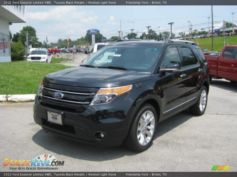 2013 Ford Explorer Limited 4wd Tuxedo Black Metallic Medium Light Stone Photo 2 Dealerrevs Com