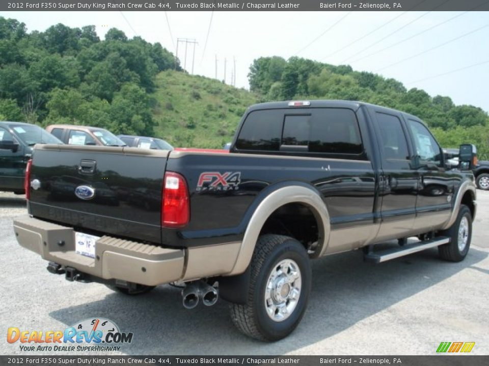 2012 ford f350 super duty king ranch crew cab 4x4 tuxedo black metallic chaparral leather. Black Bedroom Furniture Sets. Home Design Ideas