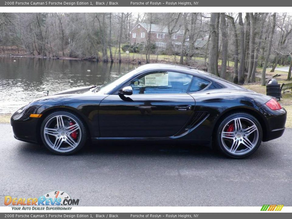 2008 Porsche Cayman S Porsche Design Edition 1 Black / Black Photo #3 ...