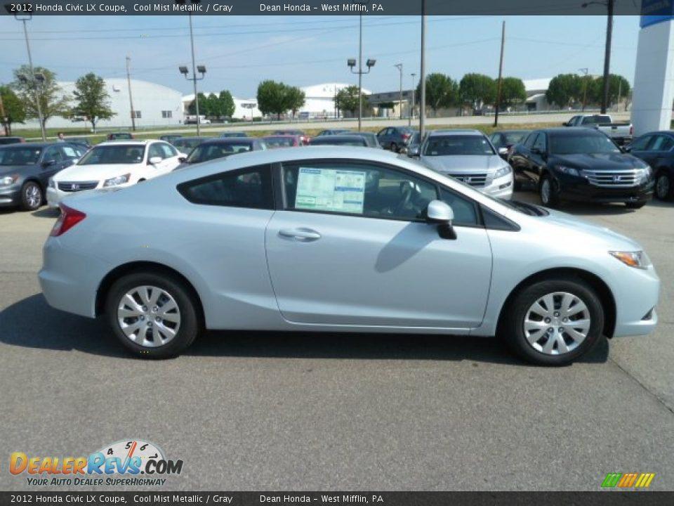 2012 Honda Civic LX Coupe Cool Mist Metallic / Gray Photo #6 ...