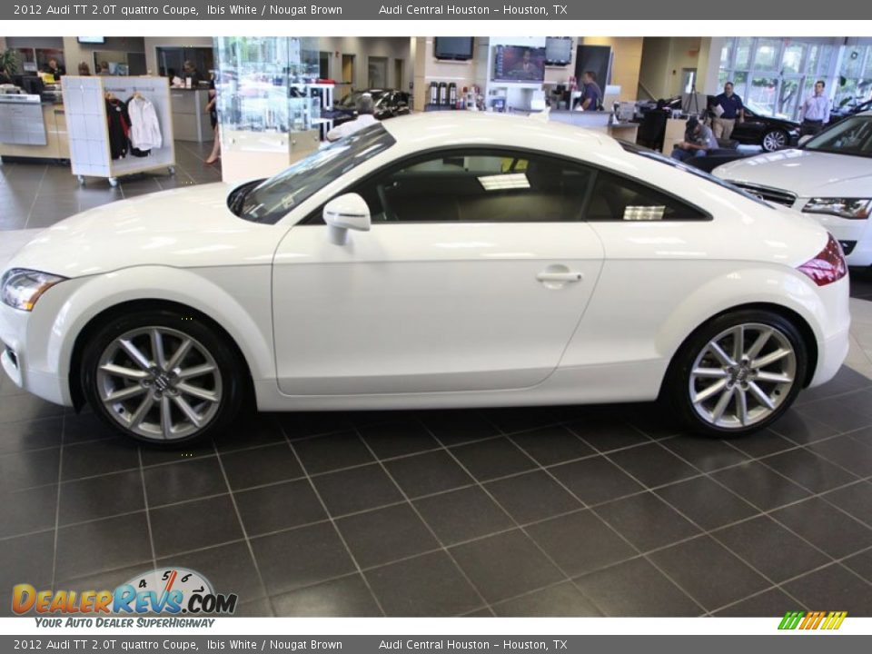 2012 Audi Tt 2 0t Quattro Coupe Ibis White Nougat Brown
