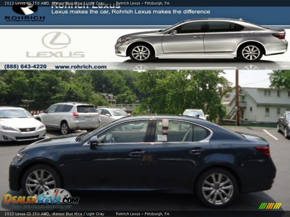 2013 lexus gs 350 awd meteor blue mica light gray photo 1. Black Bedroom Furniture Sets. Home Design Ideas
