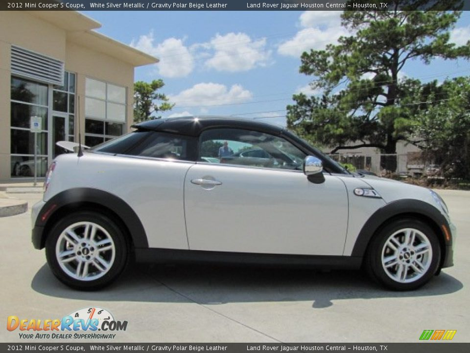 2012 Mini Cooper S Coupe White Silver Metallic Gravity Polar Beige