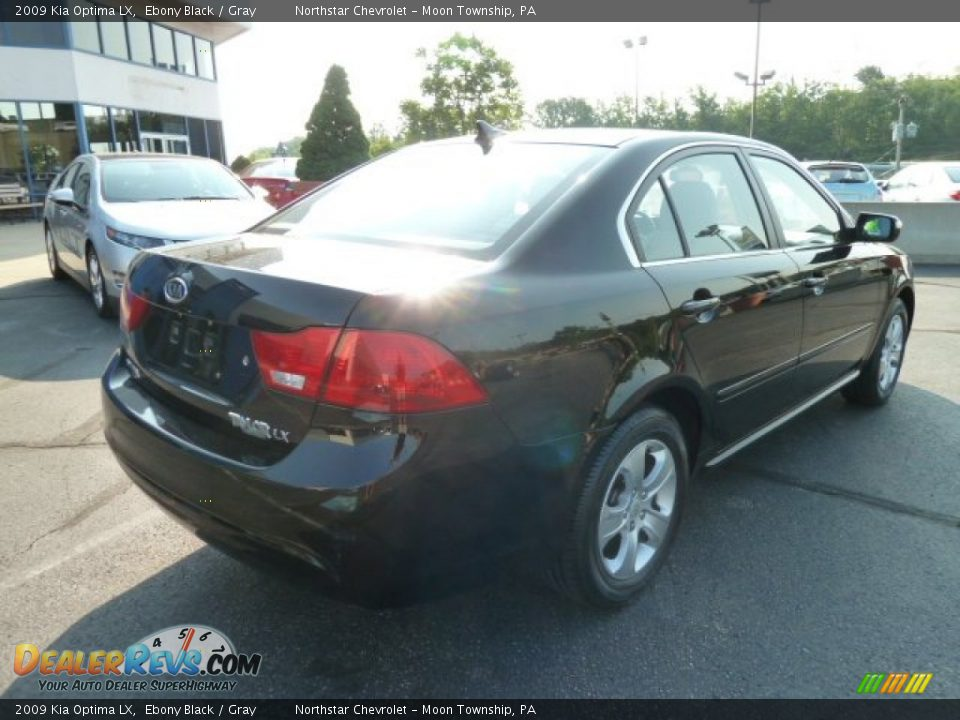 2009 Kia Optima LX Ebony Black / Gray Photo #3 ...
