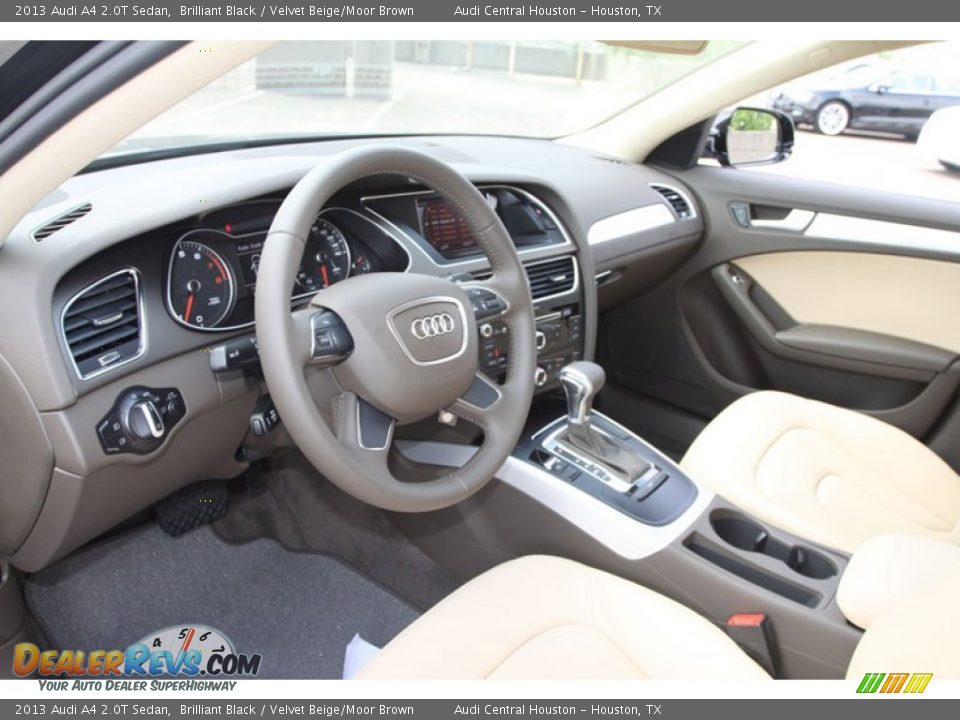 Velvet Beige Moor Brown Interior 2013 Audi A4 2 0t Sedan