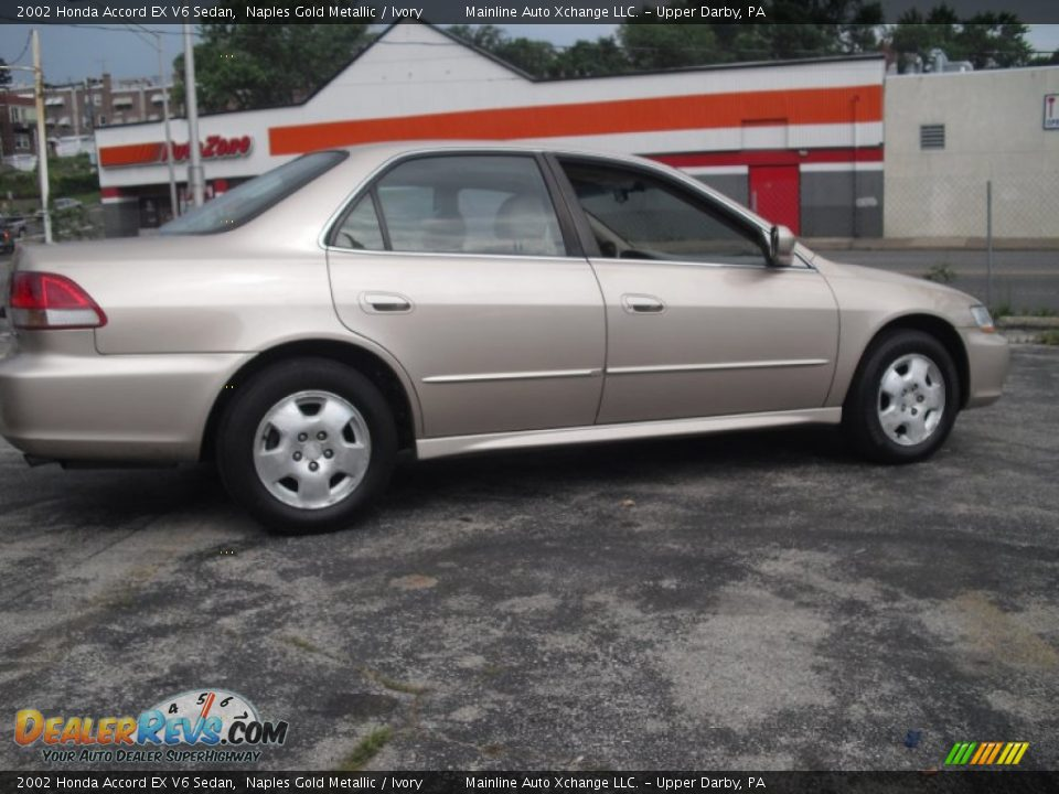 2002 honda accord ex v6 sedan naples gold metallic ivory photo 9. Black Bedroom Furniture Sets. Home Design Ideas