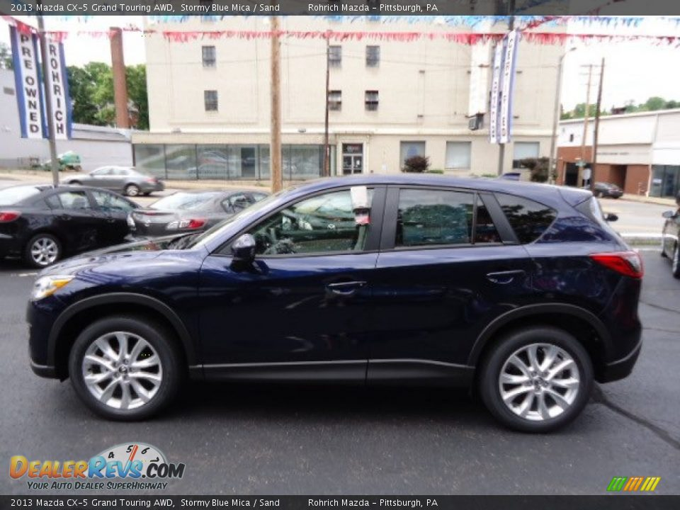 2013 mazda cx 5 grand touring awd stormy blue mica sand photo 2. Black Bedroom Furniture Sets. Home Design Ideas