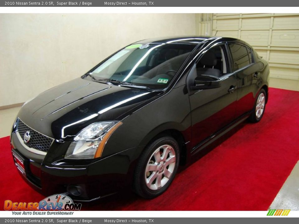 2010 nissan sentra 2 0 sr super black beige photo 3. Black Bedroom Furniture Sets. Home Design Ideas
