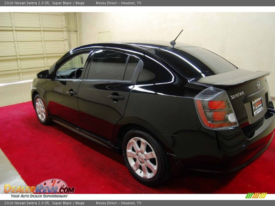 2010 nissan sentra 2 0 sr super black beige photo 4. Black Bedroom Furniture Sets. Home Design Ideas
