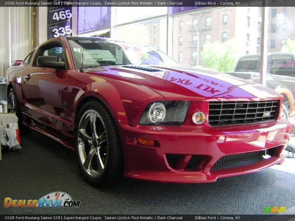 2008 ford mustang saleen s281 supercharged coupe saleen lizstick red metallic dark charcoal. Black Bedroom Furniture Sets. Home Design Ideas