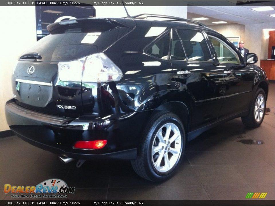 2008 Lexus Rx 350 Awd Black Onyx Ivory Photo 2