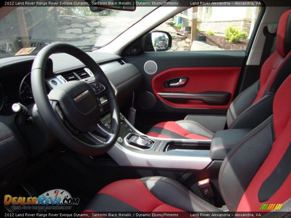 Dynamic Ebony Pimento Interior 2012 Land Rover Range Rover Evoque Dynamic Photo 6