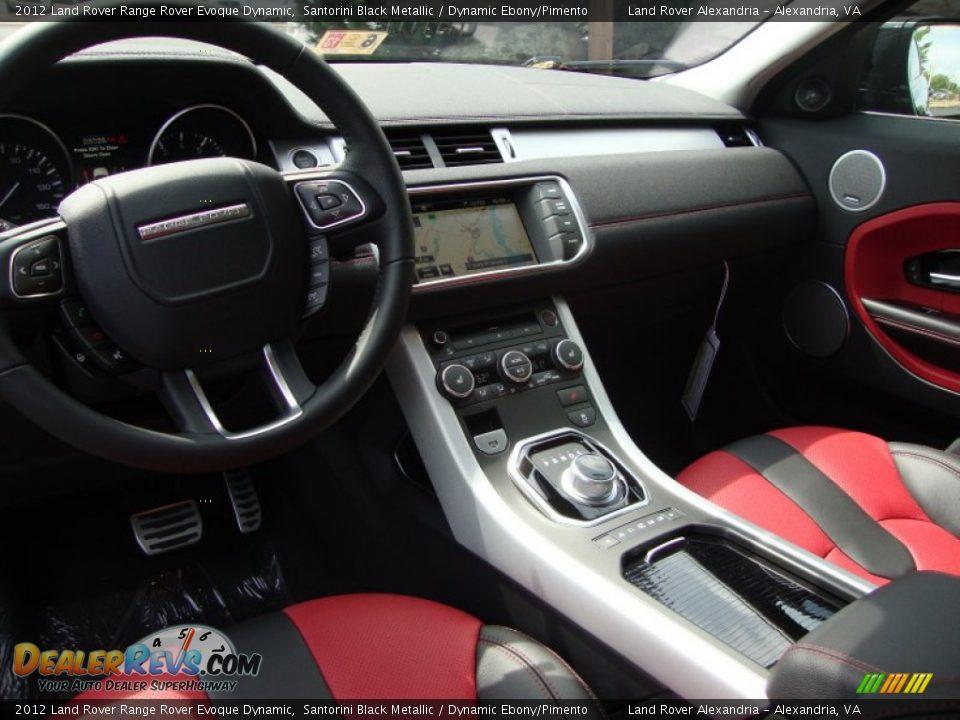 Dynamic Ebony Pimento Interior 2012 Land Rover Range Rover Evoque Dynamic Photo 7
