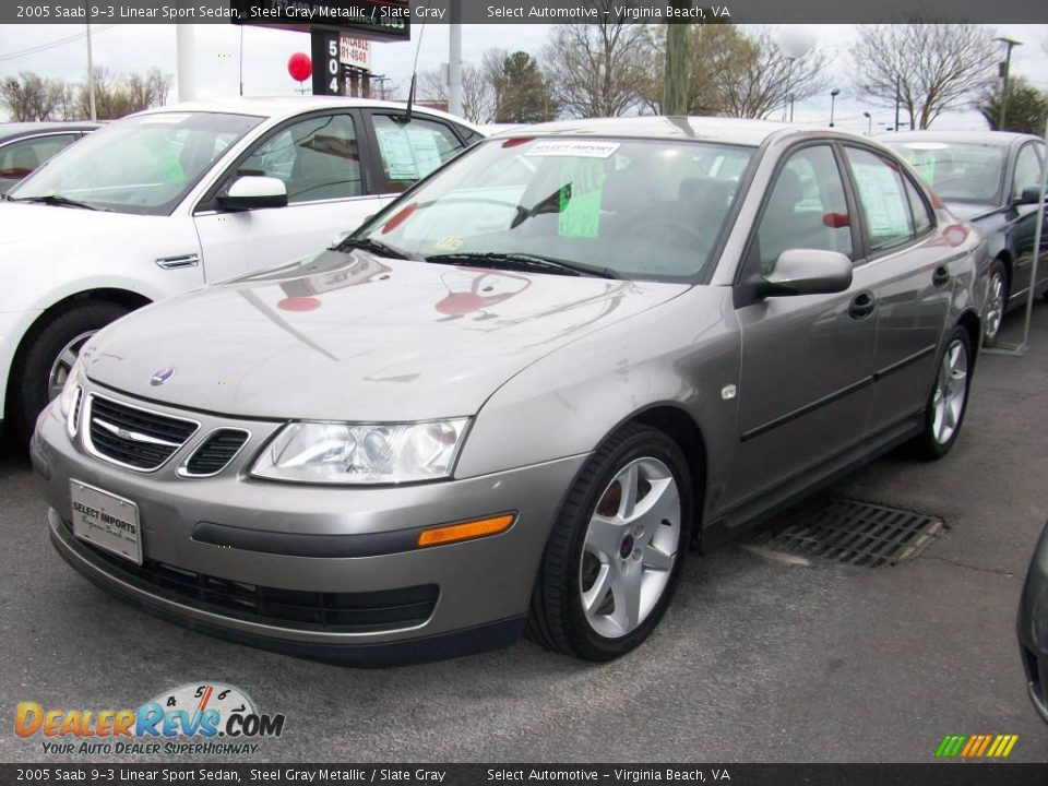 2005 saab 9 3 linear sport sedan steel gray metallic. Black Bedroom Furniture Sets. Home Design Ideas