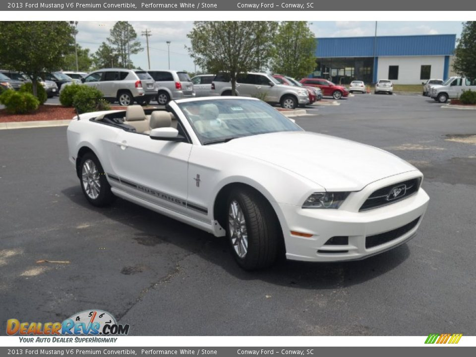 2013 ford mustang v6 premium convertible performance white stone. Black Bedroom Furniture Sets. Home Design Ideas