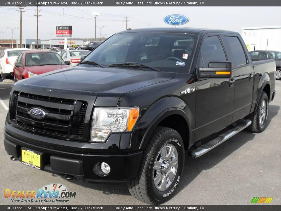 2009 ford f150 fx4 supercrew 4x4 black black black photo. Black Bedroom Furniture Sets. Home Design Ideas