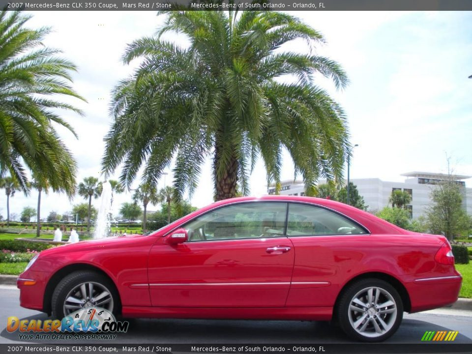 2007 mercedes benz clk 350 coupe mars red stone photo 1 for 2007 mercedes benz clk