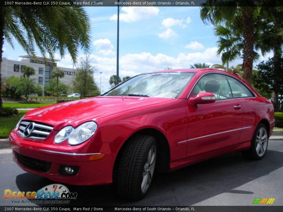2007 mercedes benz clk 350 coupe mars red stone photo 2 for 2007 mercedes benz clk