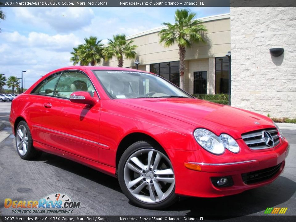 2007 mercedes benz clk 350 coupe mars red stone photo 4 for 2007 mercedes benz clk