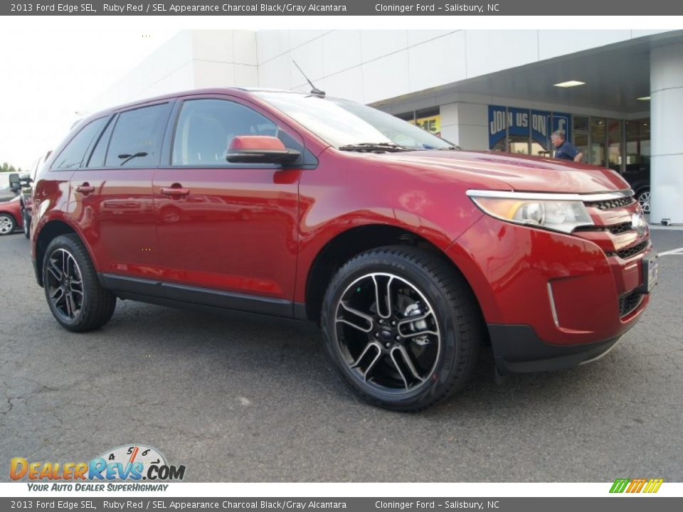 ruby red 2013 ford edge sel photo 1. Black Bedroom Furniture Sets. Home Design Ideas