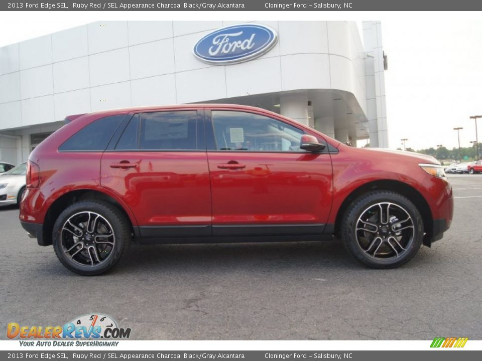 Ruby Red 2013 Ford Edge Sel Photo 2 Dealerrevs Com
