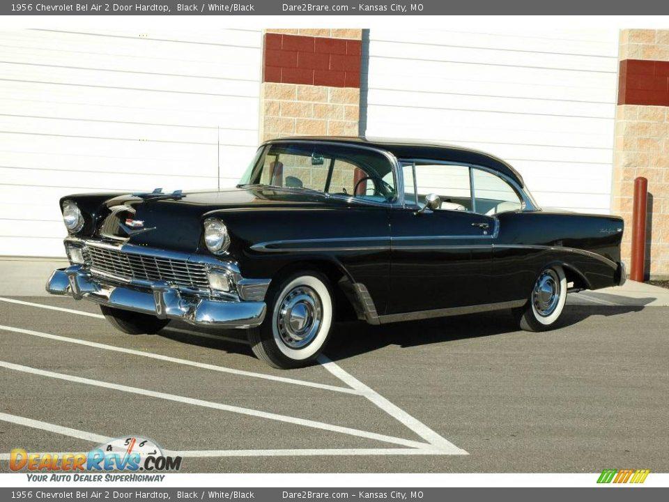 1956 chevrolet bel air 2 door hardtop black white black for 1956 chevy belair 2 door hardtop