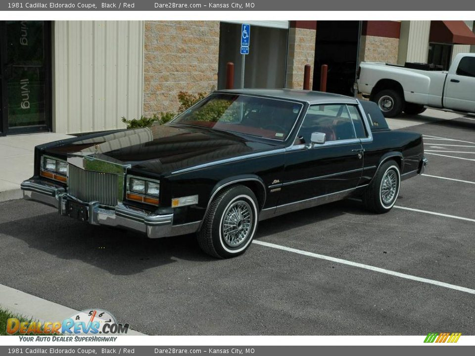 1981 cadillac eldorado coupe black red photo 1 dealerrevs com dealerrevs com