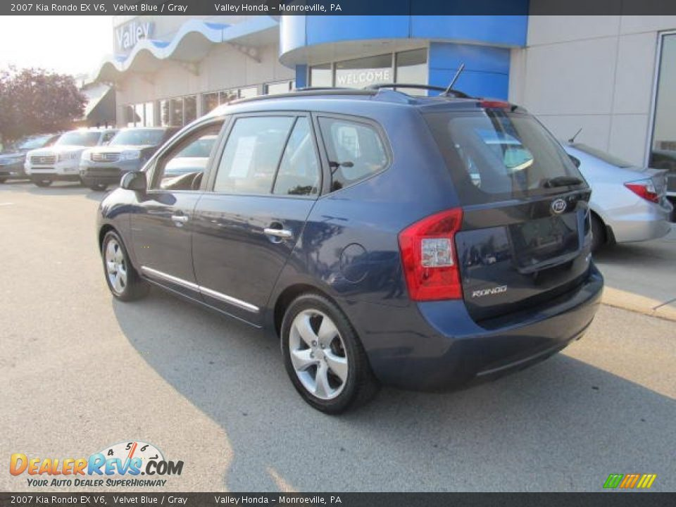 2007 Kia Rondo EX V6 Velvet Blue / Gray Photo #3 ...