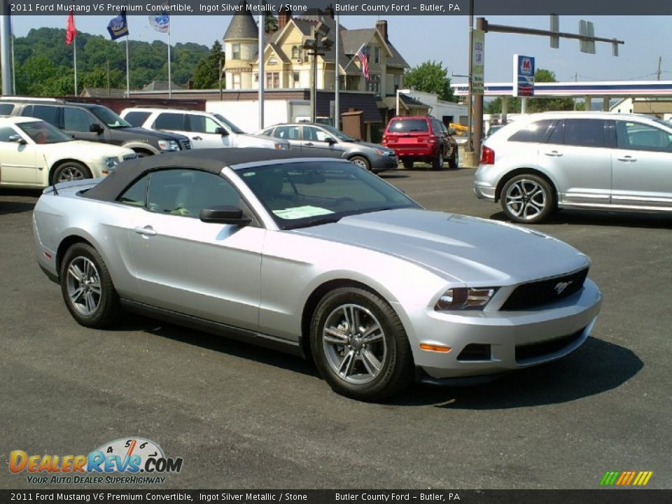 2011 Ford Mustang V6 Premium Convertible Ingot Silver