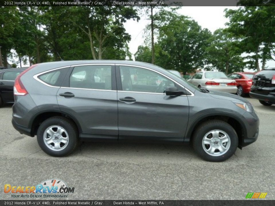 2012 honda cr v lx 4wd polished metal metallic gray for Gray honda crv