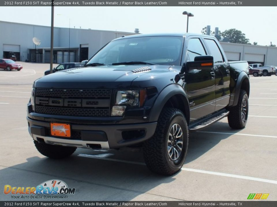 2012 ford f150 svt raptor supercrew 4x4 tuxedo black metallic raptor black leather cloth photo. Black Bedroom Furniture Sets. Home Design Ideas