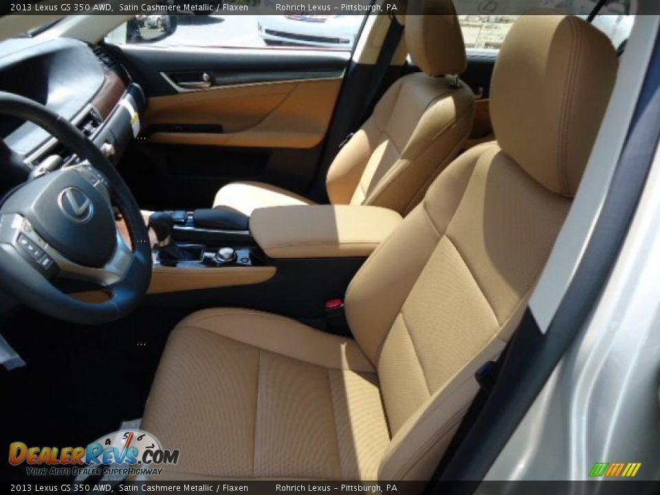 Flaxen Interior 2013 Lexus Gs 350 Awd Photo 10
