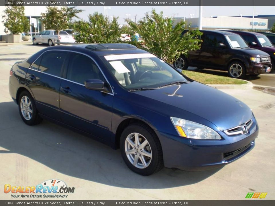 2004 honda accord ex v6 sedan eternal blue pearl gray photo 3. Black Bedroom Furniture Sets. Home Design Ideas