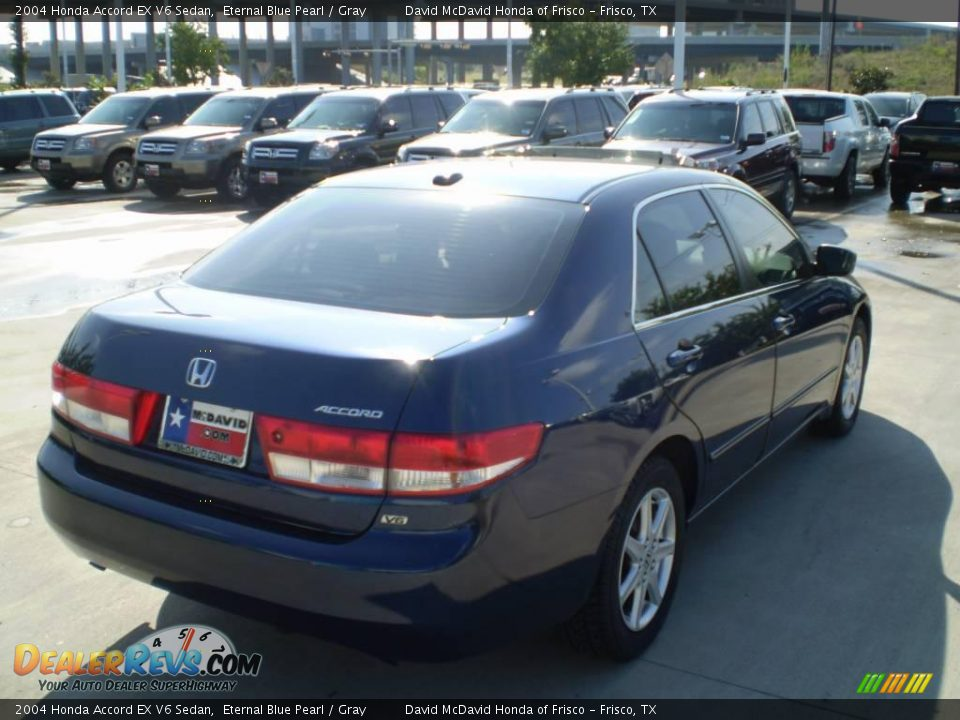 2004 honda accord ex v6 sedan eternal blue pearl gray photo 5. Black Bedroom Furniture Sets. Home Design Ideas