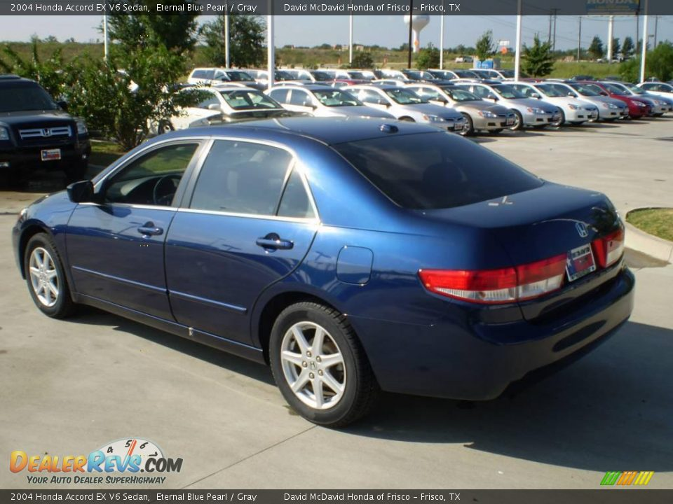 2004 honda accord ex v6 sedan eternal blue pearl gray photo 7. Black Bedroom Furniture Sets. Home Design Ideas