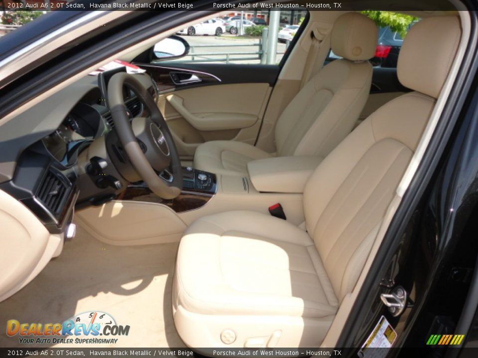 velvet beige interior 2012 audi a6 2 0t sedan photo 6. Black Bedroom Furniture Sets. Home Design Ideas