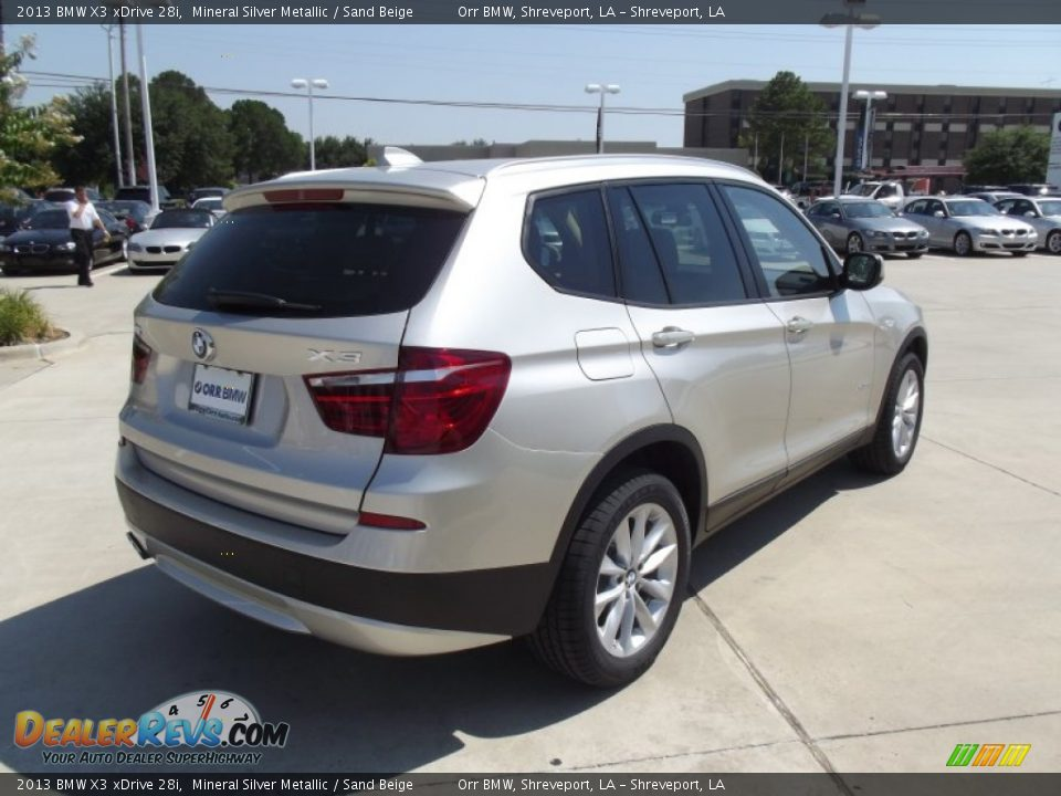 2013 bmw x3 xdrive 28i mineral silver metallic sand beige photo 3. Black Bedroom Furniture Sets. Home Design Ideas