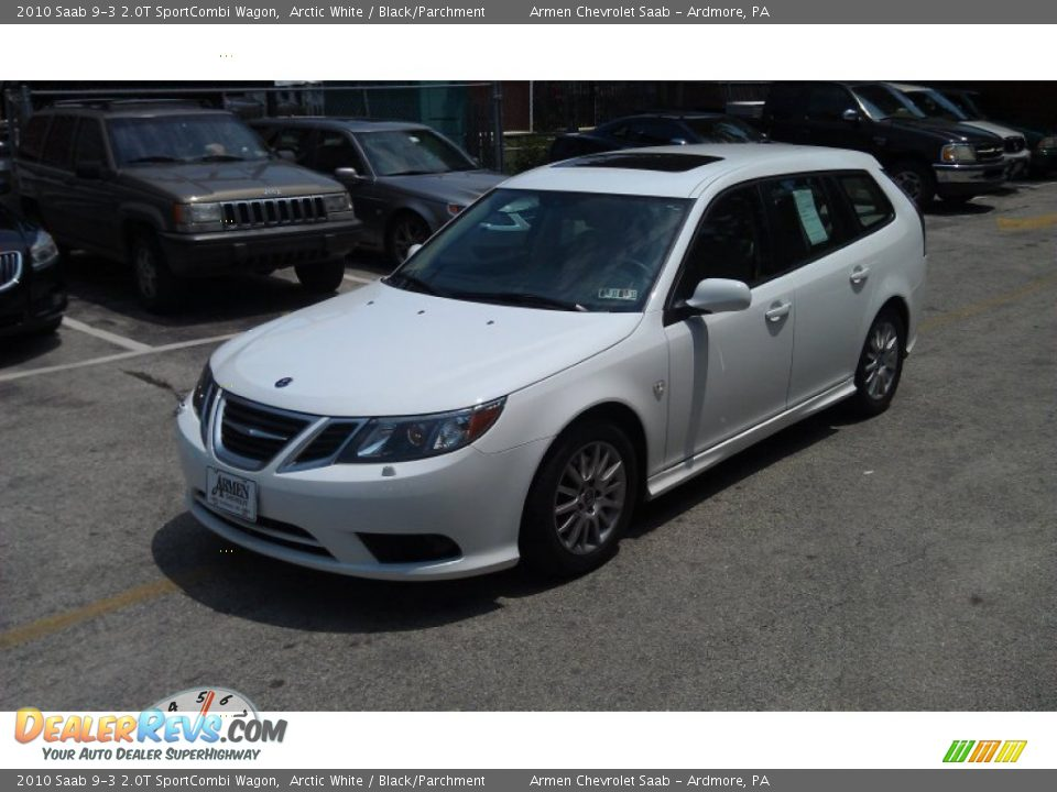 2010 saab 9 3 2 0t sportcombi wagon arctic white black. Black Bedroom Furniture Sets. Home Design Ideas