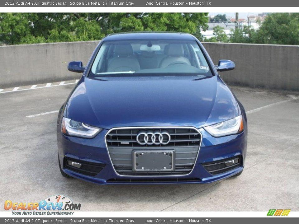 Audi a4 2013 Blue 2013 Audi a4 2 0t Quattro