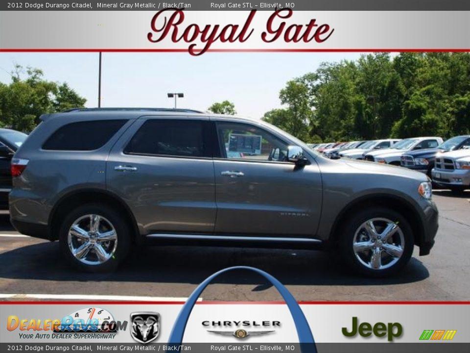 2012 Dodge Durango Citadel Mineral Gray Metallic Black