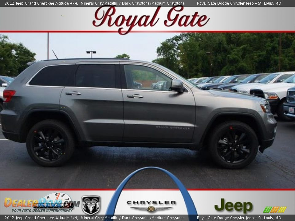 2012 jeep grand cherokee altitude 4x4 mineral gray metallic dark graystone medium graystone. Black Bedroom Furniture Sets. Home Design Ideas